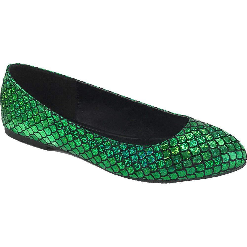 Women's Mermaid Green Flats - DeluxeAdultCostumes.com
