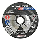 "Walter Allsteel XX Exceptional Grinding Wheel, Type 27, Round Hole, Aluminum Oxide, 5"" Diameter, 1/4"" Thick, 7/8"" Arbor, Grit A-24-AXX (Pack of 10)"
