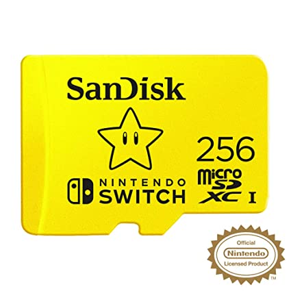 SanDisk SDSQXAO-256G-GNCZN microSDXC UHS-I Card for Nintendo Switch, 256  GB, Nintendo Licensed Product
