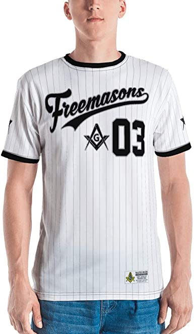 Made in USA Premium Masonic Shirt Freemasons Sports Team Jersey Style T-Shirt
