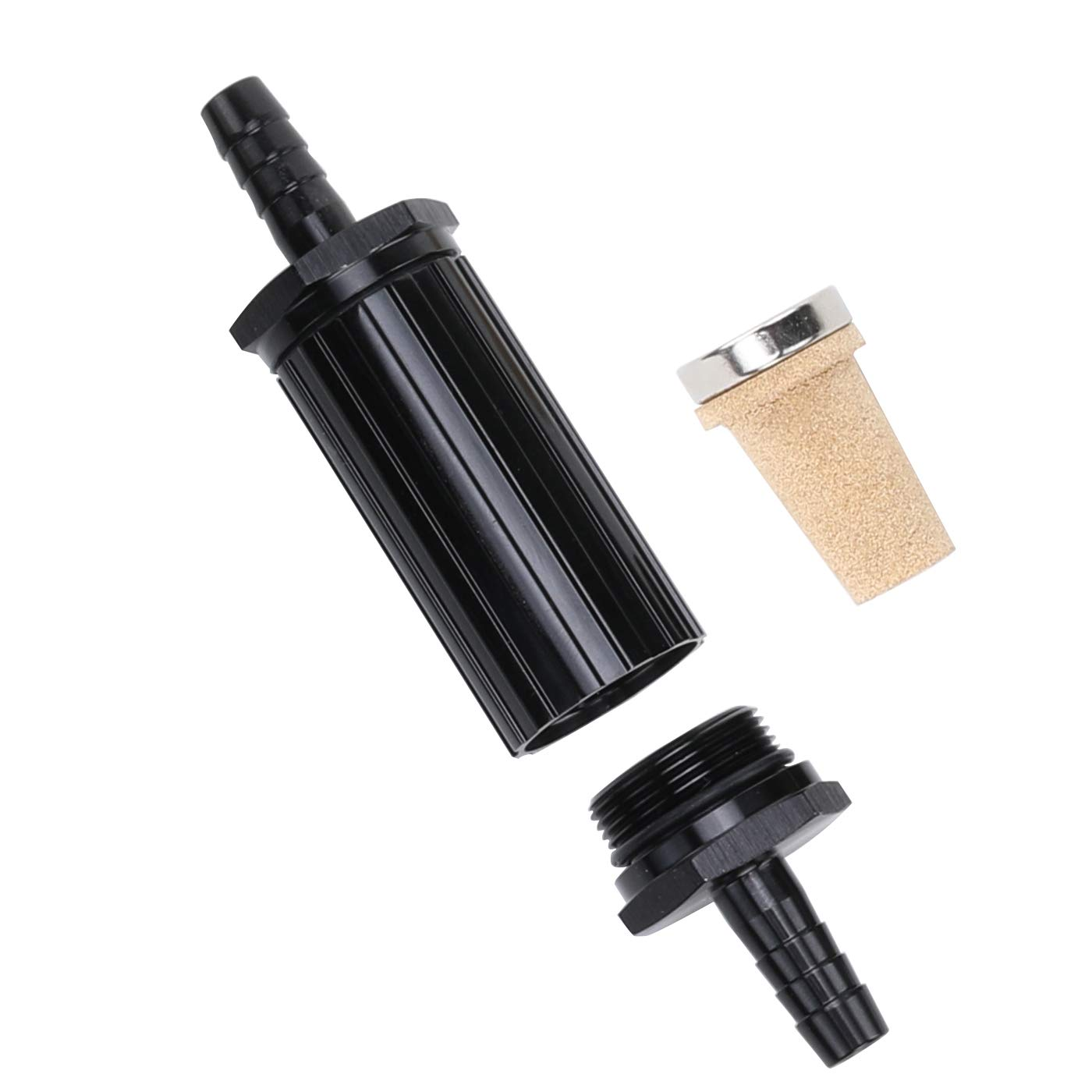 10AN Male Flare Fuel Cell Roll Over Valve Aluminum AN10 Rollover Valve Tank Mounted Fitting Adapter Black and Blue Anodized