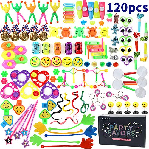 Amy&Benton 120PCS Treasure Box Prizes for Classroom, Kids Birthday Party Favors for Goodie Bag Fillers, Assorted Pinata Fillers, Bulk Party Toy