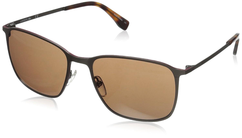 20c5a7450747 Amazon.com  Lacoste Men s L178S Square Sunglasses Satin Black 57 mm   Clothing