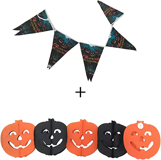 Cisne 2013, S.L. Pack de guirnaldas para Halloween, diseño Calabaza y triangulo Halloween. Tamaño aproximado 3 ...