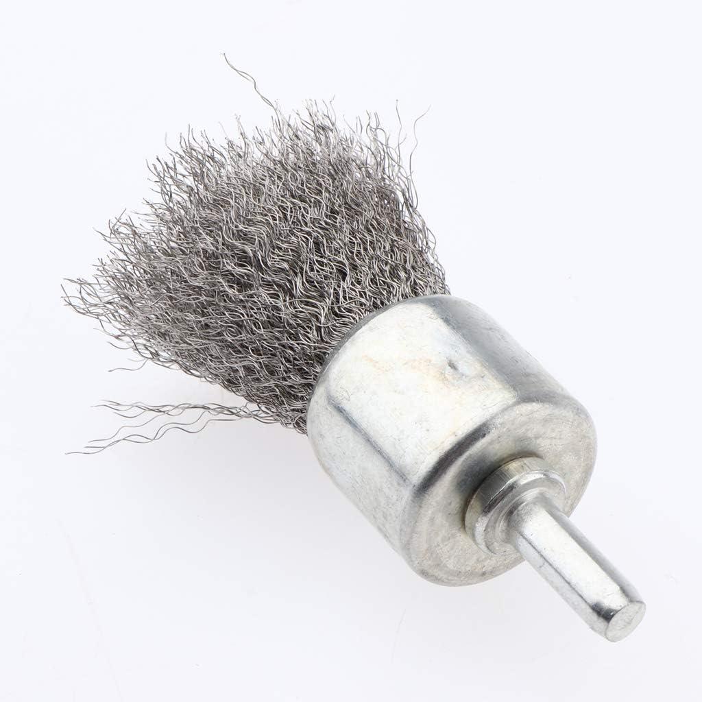 6 x 20 x 150 mm 0,3 Scheibenb/ürste Stahldraht Edelstahl Bohrmaschine Rundb/ürste Drahtb/ürste