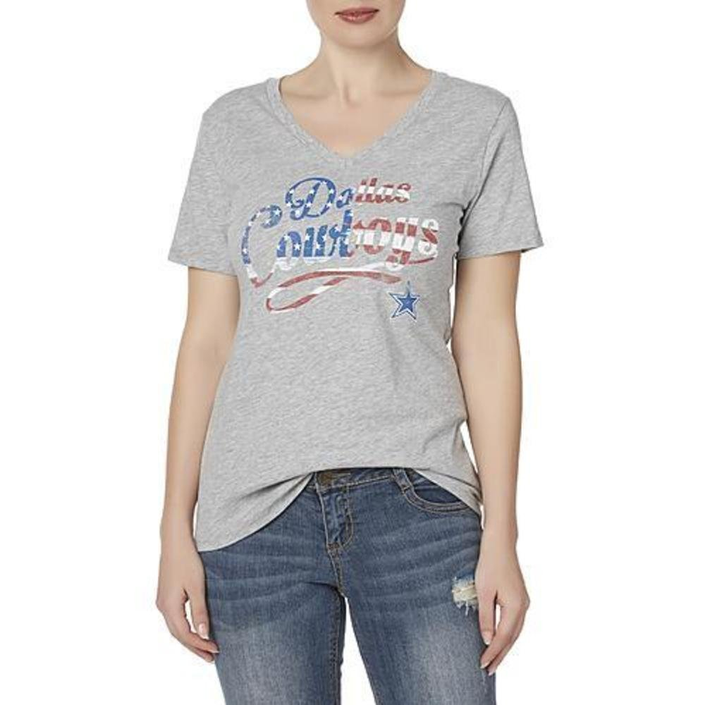 Amazon Com Dallas Cowboys Womens Graphic Tee Shirt Size Large