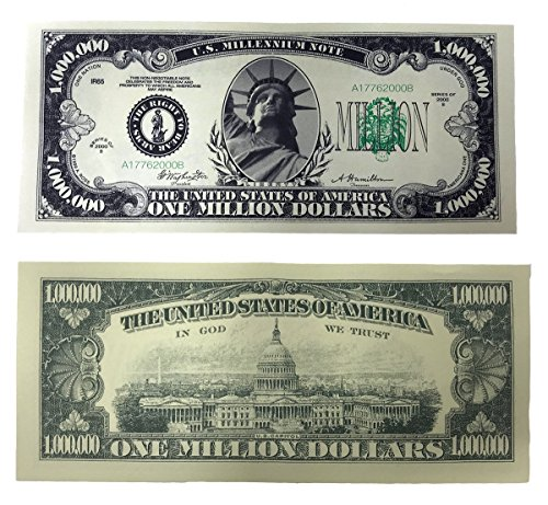 (TheGag Million Dollar Bills- 100 Bills Very Realistic Looking Prop Money Copy -Educational Product-PLAY MONEY-Millones De Billetes Dinero)