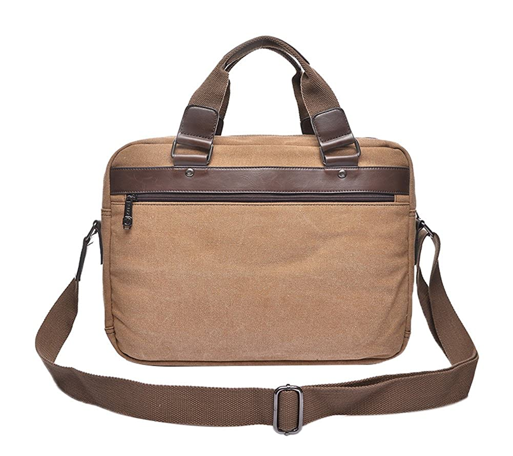 Genda 2Archer Mens Canvas Laptop Messenger Bag Shoulder Briefcase College Bag