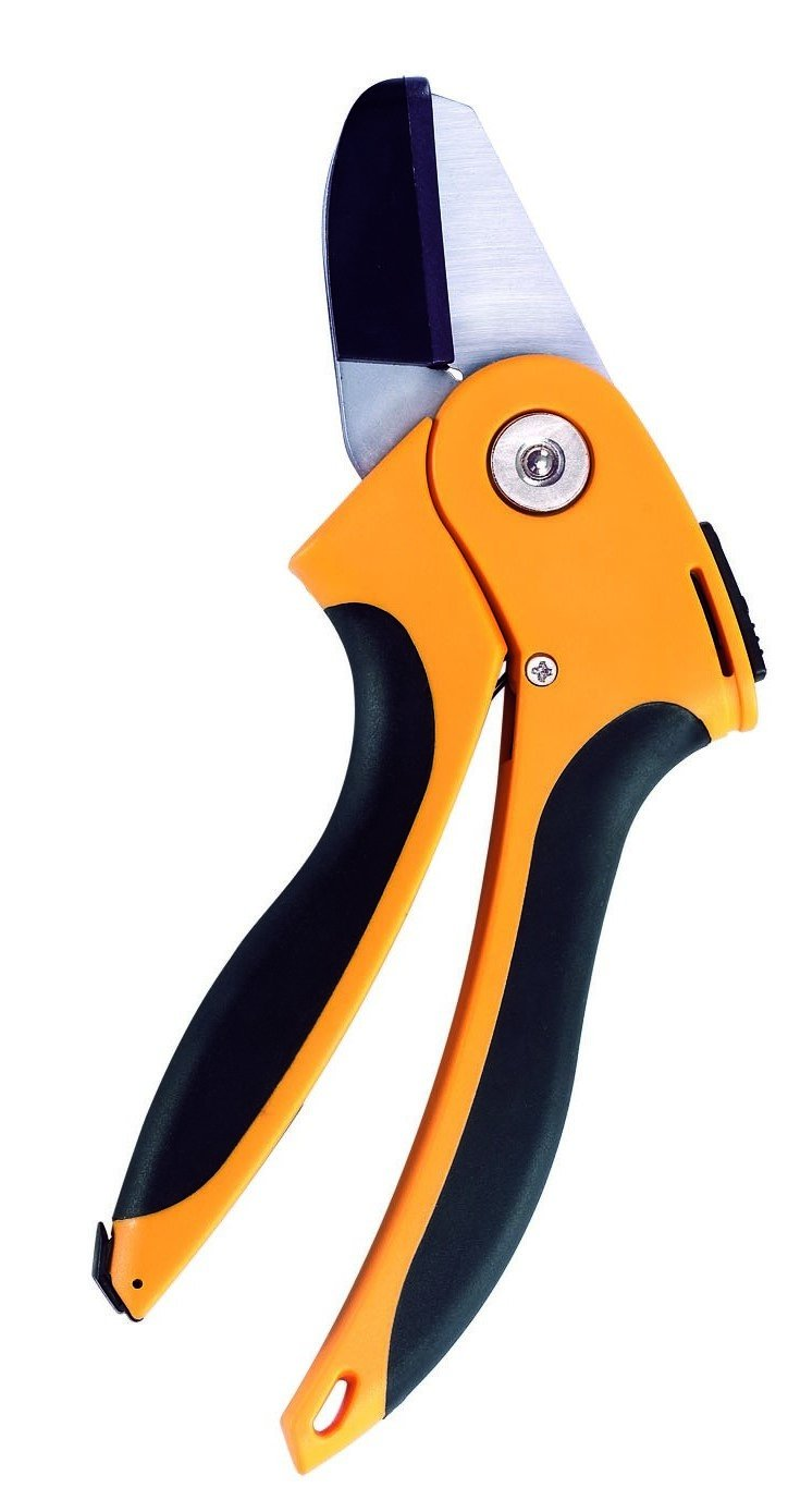 Ascend Tools Professional Garden Anvil Hand Cutter 7-7/8 inch - Extra Sharp Secateurs, Rust Proof, Safety Lock, Ergonomic