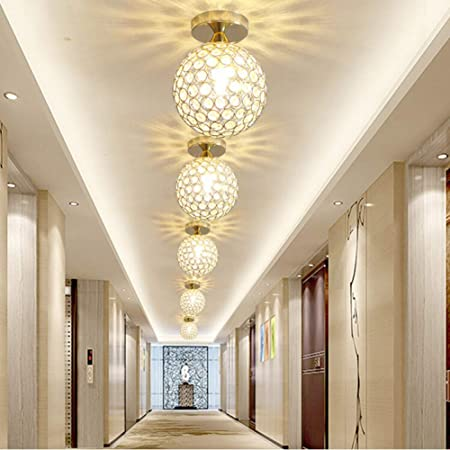 TYOLOMZ Lámpara de Techo de Cristal Moderna para la Entrada del hogar Escalera Escalera Pasillo Pasillo Lámpara de Techo Decoración del hogar Lámpara LED: Amazon.es: Hogar