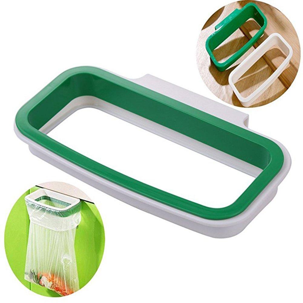 lumanuby 1pcs soporte de almacenamiento bolsa de basura cocina armario armario port/ón trasero soporte para colgar bolsas para basura accesorio de