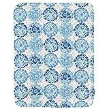 Carousel Designs Blue Modern Mosaic Crib Comforter