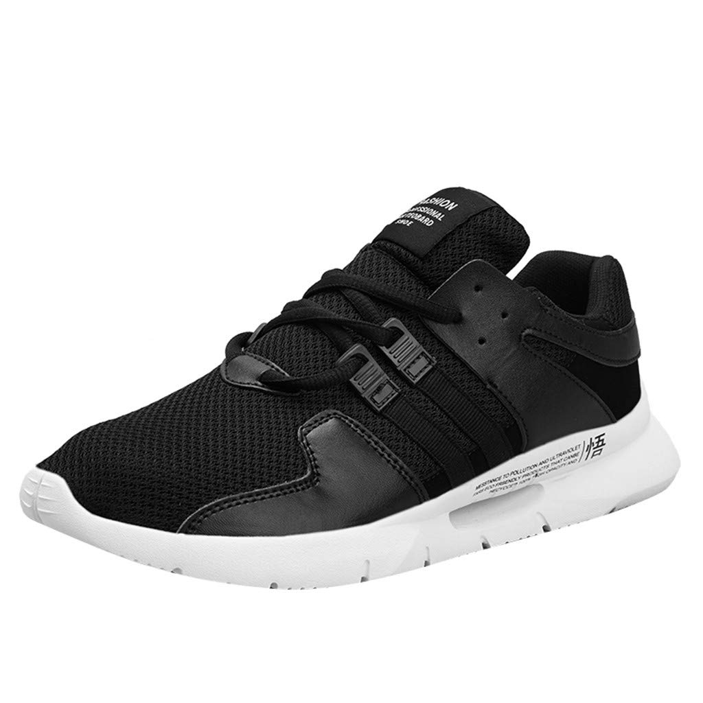 Street Sneakers Men Work Sneakers ✔ Men's Mesh Thick-Soled Running Shoes Wild Casual Shoes Breathable Sneakers Black