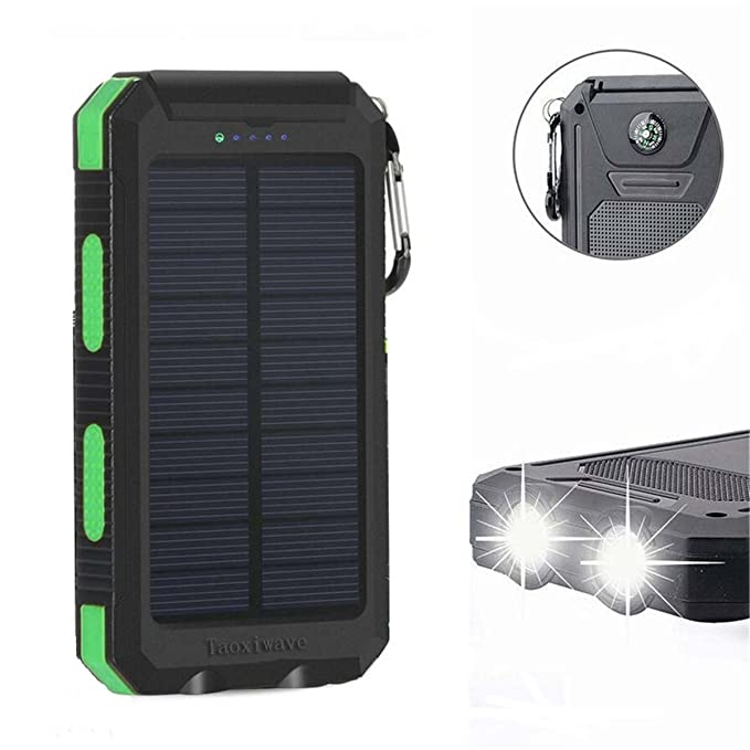 Cargador solar de 20000 mAh, cargador solar resistente al agua ...