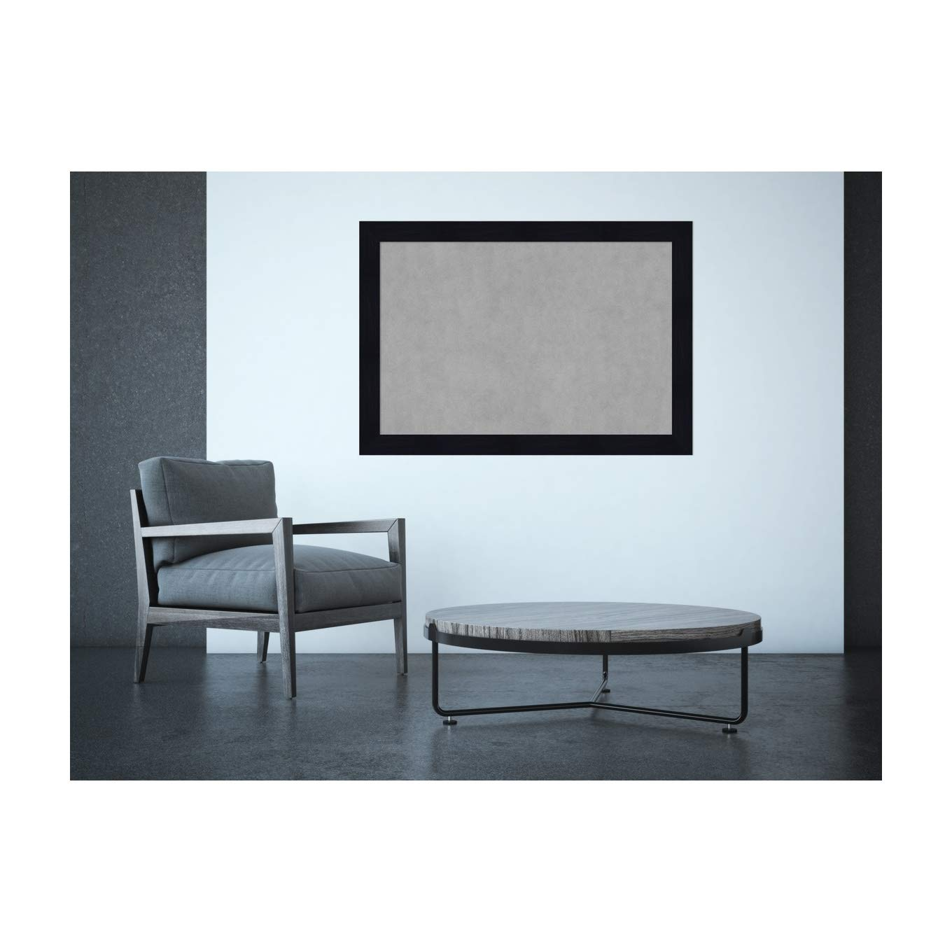 Outer Size 27 x 15 Sky Blue Rustic Framed Magnetic Boards Amanti Art Medium