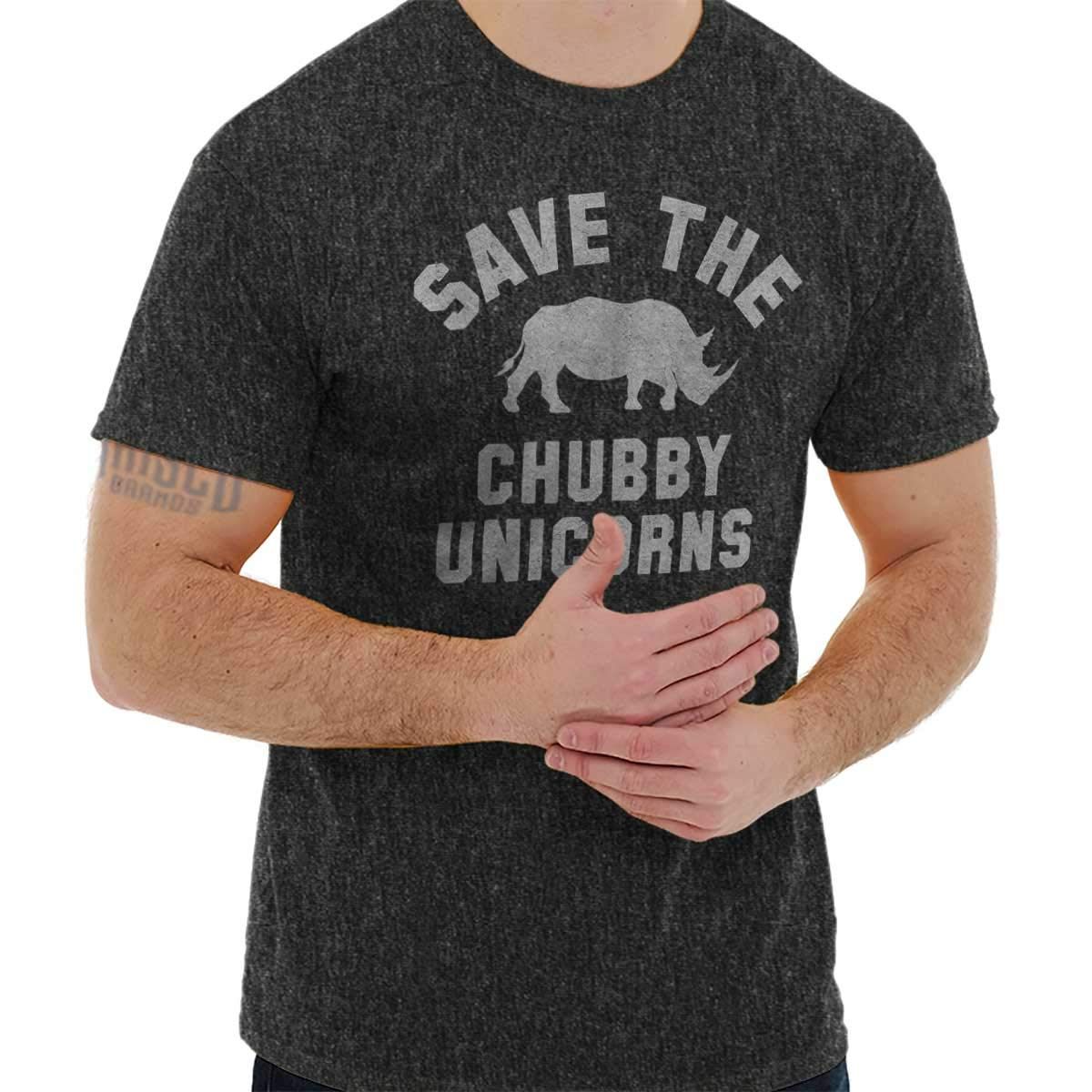 Save Chubby Unicorns Funny Shirt Rhino Hipster Gift Idea Cool T-Shirt Tee