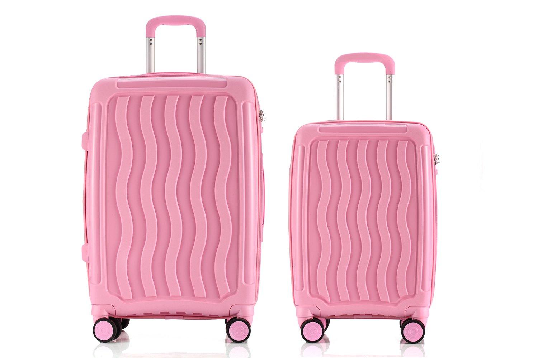 LGO Travel Luggage Sets 2PCS Unbreakable Suitcases Set TSA Lock Spinner Wheels Lightweight 20''24'' by LGO
