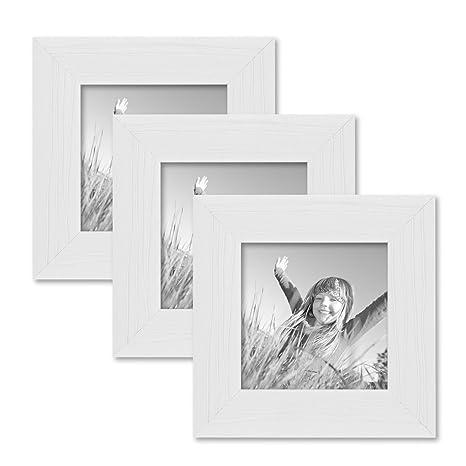 Set Di Portafoto Cornice Bianco Moderno In Legno Massiccio Con
