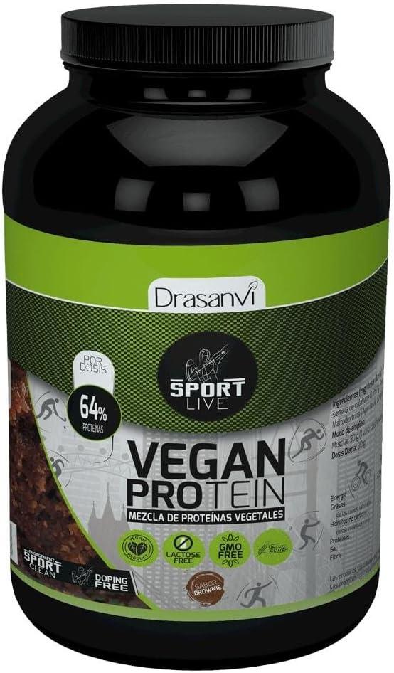 DRASANVI Proteína Vegetal Sabor Chocolate Brownie Sport ...