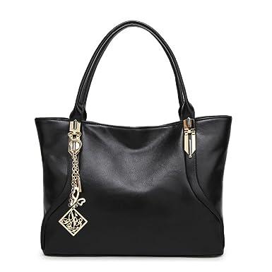 Damen Mode Kontrast Tasche Handtasche Diagonal Tasche Schultertasche Frühe Frühjahr Retro Tasche Kleine Party Tasche,Black-OneSize GKKXUE
