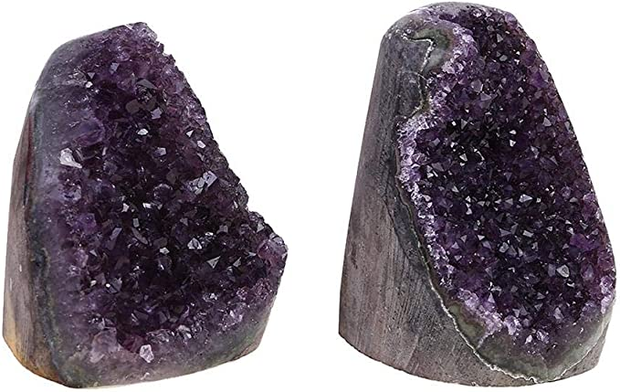 Wintesty Am/éthyste Pierre Naturelle Cluster de Cristal de Quartz D/écoration dint/érieur Mineraux et Cristaux pour Mineraux Collection Gifts