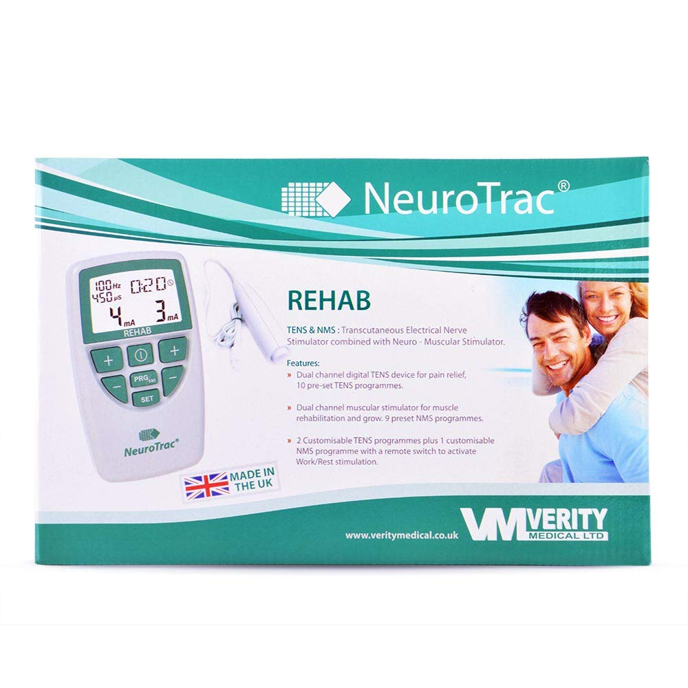 NeuroTrac Rehab - Includes Four Electrode Pads | Triggered Muscle  Stimulation and Transcutaneous Electrical Nerve Stimulation