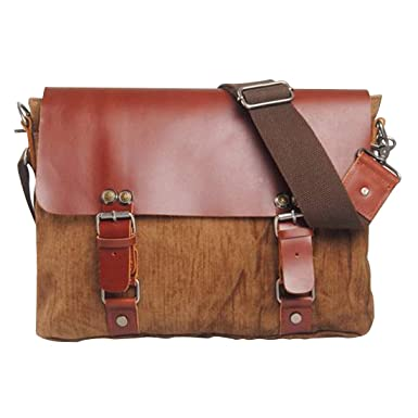 Jeansian Mens Womens Unisex Canvas Messenger School Hand Bag