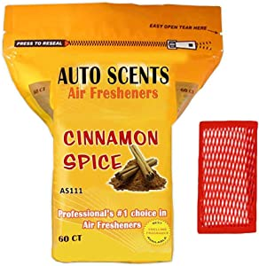 Cinnamon Spice Scent Professional Air Freshener Pads - Remove The Worst Smells with These Heavy Duty Pads (60 Pads Per Pack) (Cinnamon Spice Scent)