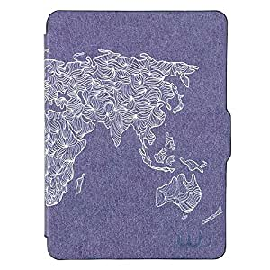 Capa Case Kindle Voyage WB Auto Liga/Desliga - Ultra Leve Mapa