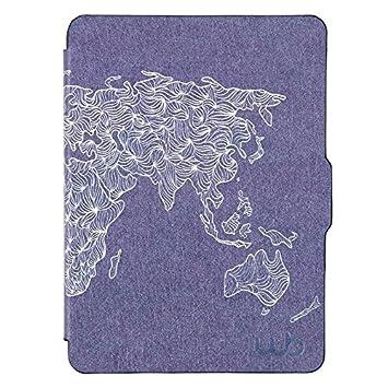 9722d03a0cbc5 Capa Case Kindle Voyage WB Auto Liga Desliga - Ultra Leve Mapa ...