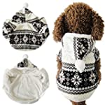 Hot Selling!!! Soft Winter Warm Pet Clothes Cozy Snowflake Dog Costume Clothing Jacket Teddy Hoodie Coat XS Black White