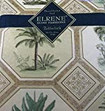 Best Elrene Patio Tables - Flannel Back Vinyl Palm Trees Tablecloths- - Assorted Review