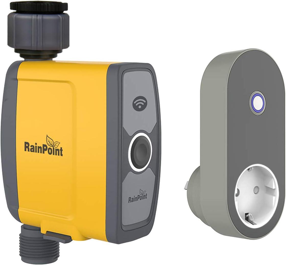 Rain Point WiFi Intelligenter Bewässerungscomputer mit App steuerbar - Bewässerungscomputer Wlan