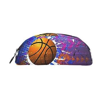 TIZORAX Hippie - Estuche para lápices de baloncesto, estuche ...