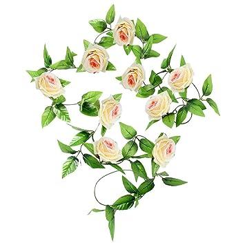 1 X 8 Ft Kunstseide Rose Blume Efeu Weinblatt Garland Hochzeit