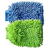 Car Wash Mitt VAPKER 2 Pack Chenille Microfiber Washing Mitts Ultra-soft Chenille Mitt