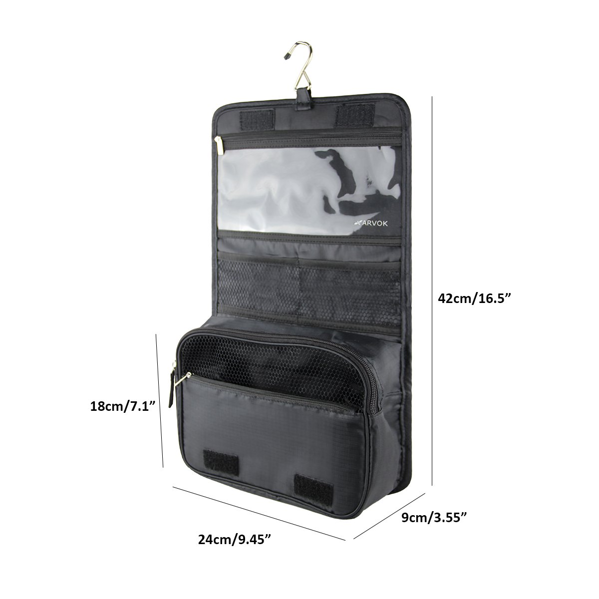 b80d0753c7 Buy arvok hanging toiletry bag with metal hook portable travel makeup  shower bath kits storage organizer cosmetic pouch case for women and men  outdoor ...