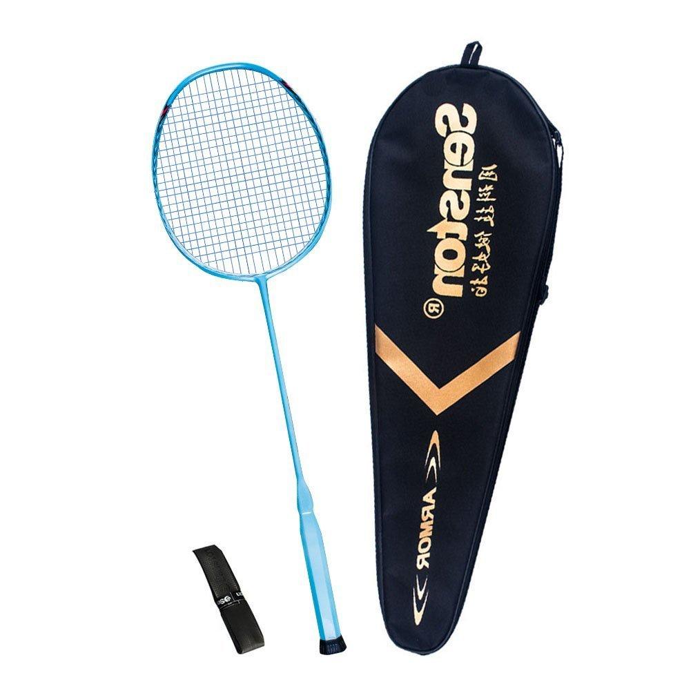 Senston N80 All-in-One Graphite Single High-Grade Badminton Racquet,Carbon Fiber Badminton Racket,Including Badminton Bag,Overgrip product image