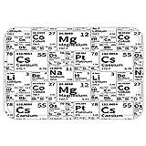 VROSELV Custom Door MatPeriodic Table School Life Smart KidInspired Chemisty Elementin SquarePrint Black and White