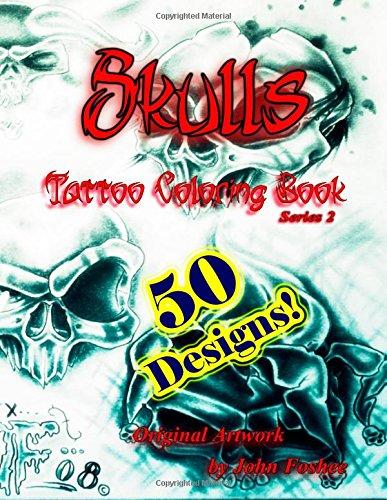 Skulls Tattoo Coloring Book
