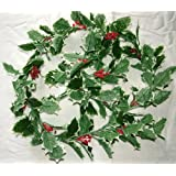 Festive Artificial Variegated Holly & Berry Christmas Garland 170cm length - Party Wedding Foliage Wreath Mantlepiece by A1-Homes
