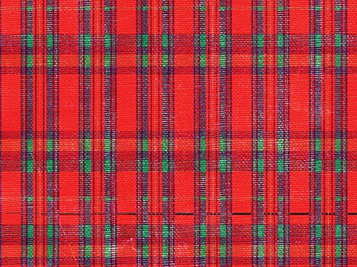 Pack of 1, Tartan Plaid 26'' x 833' Full Ream Gift Wrap (Metallized) for Holiday, Party, Kids' Birthday, Wedding & Special Occasion Packaging by Generic