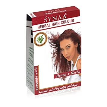 Amazon Com Synaa Herbal Hair Color Burgundy Henna Herbs No