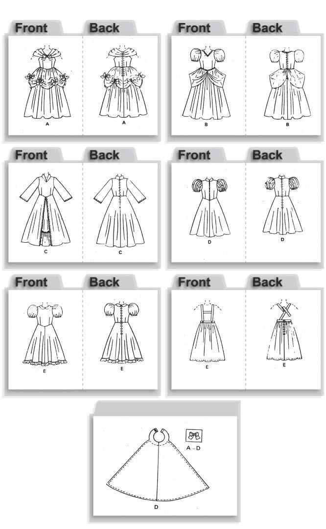 Butterick Patterns B4320 - Patrones de costura para disfraces de ...