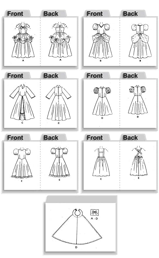 Butterick Patterns B4320 - Patrones de costura para disfraces de ...