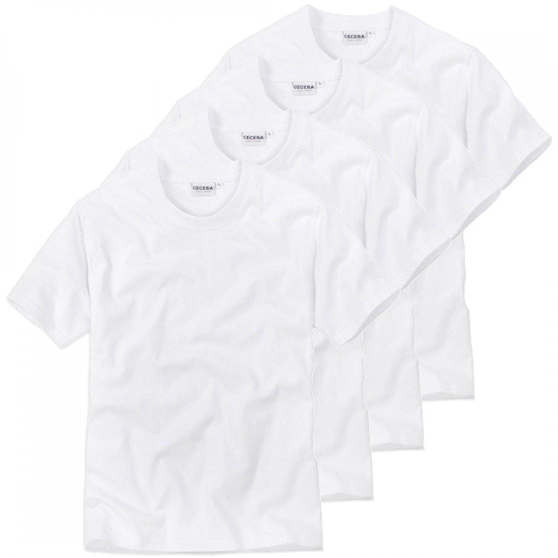 4 er Pack CECEBA Herren Rundhals T-Shirt, american Shirt, Unterhemd -  Übergrößen: Amazon.de: Bekleidung
