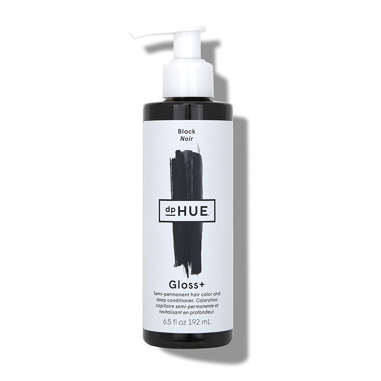 dpHUE Gloss+ - Black, 6.5 oz - Color-Boosting Semi-Permanent Hair Dye & Deep Conditioner - Enhance & Deepen Natural or Color-Treated Hair - Gluten-Free, Vegan