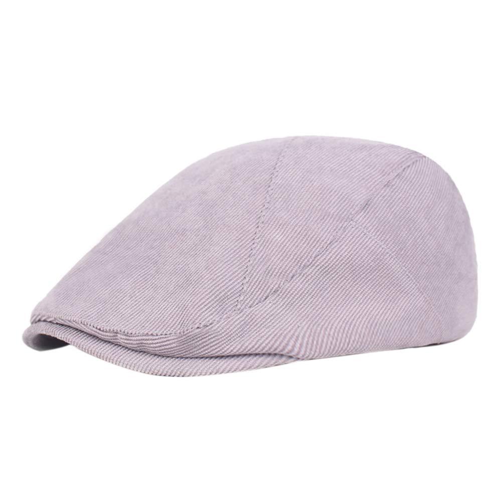 hewantiey Beret Cap Cotton Newsboy Beret Retro Driving Hat Flat Scally Cap