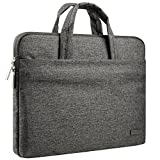 CCPK 13 Inch Laptop Sleeve Briefcase Water Repellent Handbag for MacBook Air 13-inch MacBook Pro 13.3-inch Retina Display Surface 12.9' iPad Dell HP Chromebook Carrying Case Notebook Bag, Black Gray