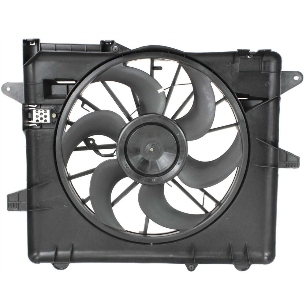 Evan-Fischer EVA24572017175 New Direct Fit Radiator Fan Assembly for MUSTANG 05-12